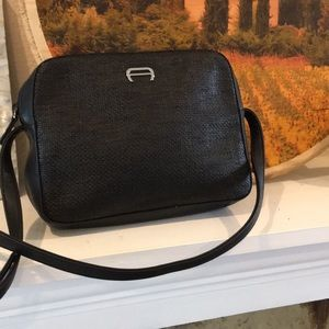 Etienne Aigner straw and leather bag like new